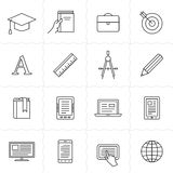 Remote education icons Stock Photo