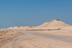 Remote empty sand filled desert in the middle east Royalty Free Stock Photography