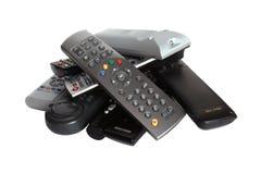 remote för kontrollapparater mycket Arkivfoton