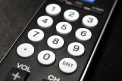 remote för tät kontroll upp Arkivfoton