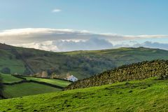 A remote farmhouse in the Cumbrian countryside Stock Image
