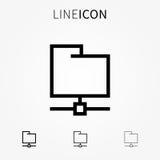 Remote folder vector icon Stock Photos