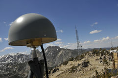 Remote GPS Antenna on Mtn.Peak Royalty Free Stock Photo