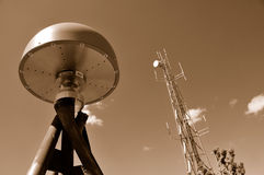 Remote GPS Antenna and Tower Royalty Free Stock Photos