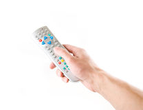 Remote in a hand Royalty Free Stock Photos