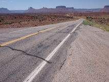Remote highway leading into the desert Stock Image