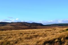 Remote Hills in the Highlands of Scotland Royalty Free Stock Photos