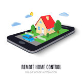 Remote home control concept icon. illustration. Royalty Free Stock Photography