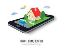 Remote home control concept icon. Vector illustration. Royalty Free Stock Photos