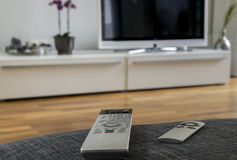 Remote for home theater Stock Photo