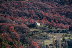 Remote house in the forests of Provence, France Stock Photos