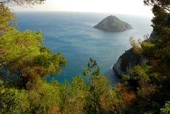 Remote Island. A remote island (liguria Italia Stock Photo
