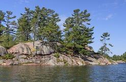 Remote Island on the Lake Huron Coast Royalty Free Stock Image