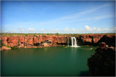 Remote Kimberley Waterfall Stock Photo