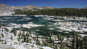 Remote Lake Aloha in California Wilderness stock video footage