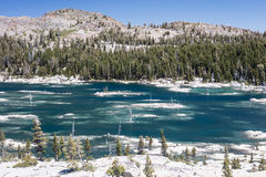 Remote Lake in Sierra Nevada Mountains Stock Photography
