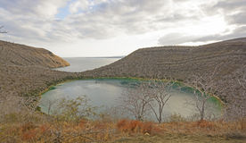 Remote Lake on a Volcanic Island Royalty Free Stock Images