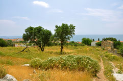 Remote landscape on greek island samos Royalty Free Stock Image