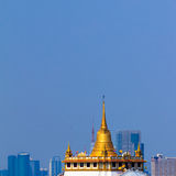 Golden Mount, at Wat Sraket in Bangkok. Stock Images