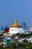 Golden Mount, at Wat Sraket in Bangkok. Royalty Free Stock Image