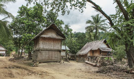 Remote laotian village Royalty Free Stock Image