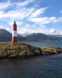 Remote Lighthouse, Patagonia. The well known landmark of Les Eclaireurs Lighthouse in the Beagle Channel near Ushuaia in Argentina Stock Images