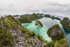 Remote Limestone Isands and Lagoon stock images