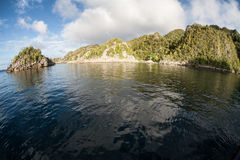 Remote Limestone Islands Royalty Free Stock Images