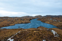 Remote loch in the Scottish Highlands. Assynt, Sutherland. Stock Images