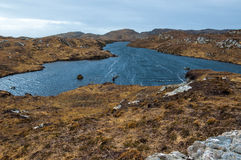 Remote loch in the Scottish Highlands. Assynt, Sutherland. Scotland. UK Stock Photos