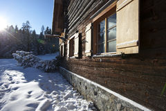 Remote log cabin Stock Photo