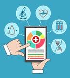 Remote medical care mobile healthcare Stock Photo