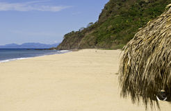 Remote Mexican Pacific Ocean beach royalty free stock image