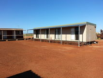 Remote mining camp accomodation Stock Photo