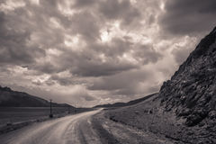 Remote mountain road Royalty Free Stock Photo