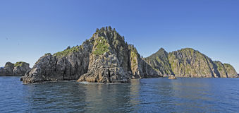 Remote Nesting Islands in the Ocean Stock Image