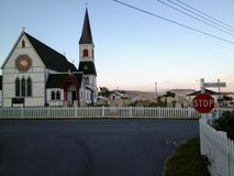 The remote Northern town of Trinity, along the quiet coast of Ne stock photo