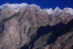Remote peaks. Mountains around askole in the karakoram himalaya Royalty Free Stock Photo