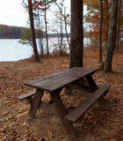 Remote picnic table Royalty Free Stock Photography