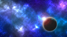 Remote planet in space Royalty Free Stock Photo