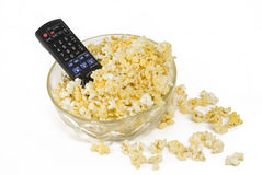 Remote in popcorn Royalty Free Stock Photography