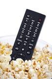 Remote in popcorn Stock Image
