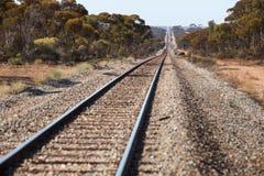Remote railroad in australian bush Royalty Free Stock Image