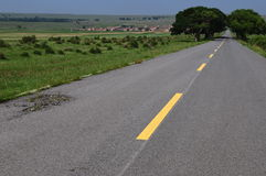 Remote Road. The Long and Winding Road Royalty Free Stock Photo