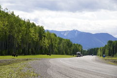 Remote Road Alaska Highway Canada Stock Photos