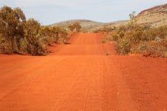 Remote road in australian desert Stock Photography