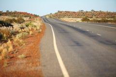 Remote road in australian desert Stock Image