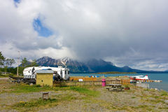 A remote, rustic campground in northern bc Stock Photos