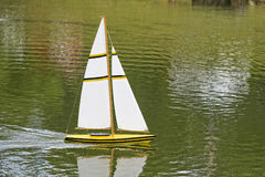 Remote Sailboat Royalty Free Stock Photos