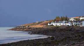 Remote Scottish Croft on the coast. Royalty Free Stock Photos